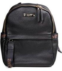 mochila feminina casual zariff em couro legítimo
