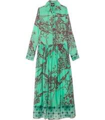 baba dress in ara green