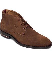signature hilfiger suede boot desert boots snörskor brun tommy hilfiger