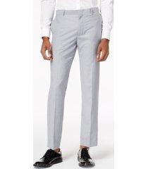 inc men's slim-fit gray suit pants, created for macy's