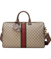 gucci ophidia gg medium carry-on duffle - brown