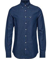 the indigo slim bd overhemd casual blauw gant