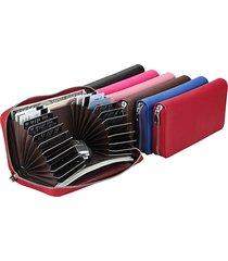 raccoglitore lungo della borsa della frizione del sacchetto del telefono della multi-scanalatura del cuoio genuino antinagnetico di rfid per gli uomini delle donne