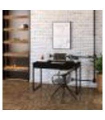 mesa de escritório kuadra 2 gv preta 120 cm