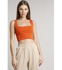 top faixa de sarja feminino cropped com recortes alças médias cobre