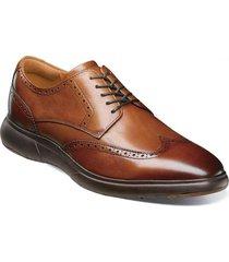 zapato flair wingtip oxford cognac florsheim