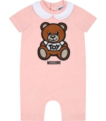 pink romper for babykids witth teddy bear