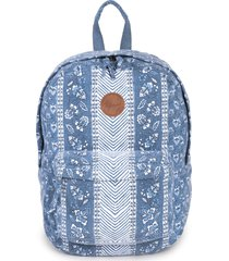 rip curl navy floral beach canvas backpack -