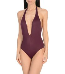 solid & striped one-piece swimsuits