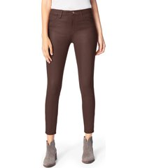 women's joe's the charlie coated ankle skinny jeans, size 29 - brown
