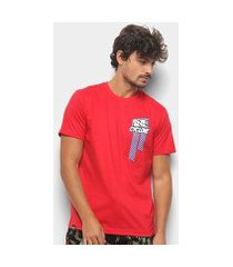 camiseta cyclone loc ladrilho silk masculina