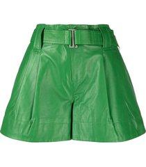 ganni belted shorts