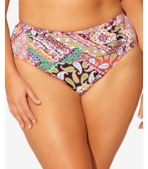 bleu by rod beattie plus size floral-print bikini bottoms women's swimsuit