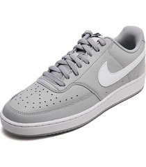 tenis lifestyle gris-blanco nike court vision lo