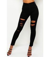 akira sandy high waisted destroyed frayed skinny jean
