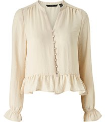 blus vmisabella ls mini v-neck shirt