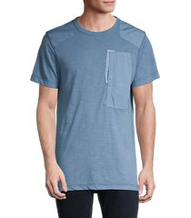 patched cotton-blend tee