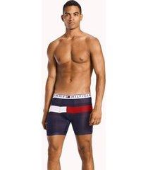 tommy hilfiger men's flag boxer brief dark navy - s
