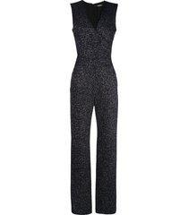 balmain flared glittered jumpsuit - black
