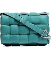 bottega veneta padded casette crossbody bag - blue