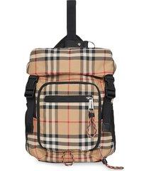 burberry vintage check nylon leo belt pack - neutrals