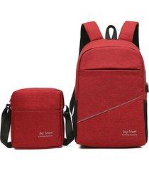 zaino donna nylon 2 pezzi solid solid crossbody borsa