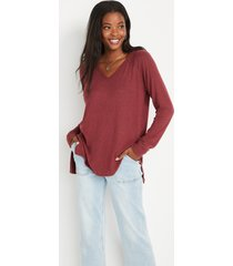 maurices womens haven cozy v neck sweatshirt red