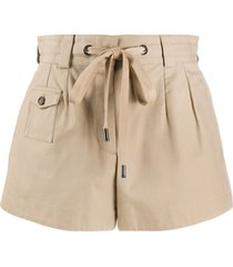 dolce & gabbana high-rise tie-waist shorts - brown