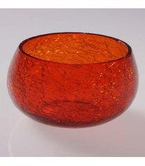 cachepot vela- pashmina- craquelado- laranja