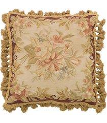 almofada aubusson flores 10 - 50 x 40