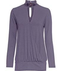maglia con applicazione gioiello (viola) - bodyflirt boutique