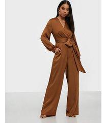 closet pleated wrap top jumpsuit jumpsuits