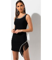 akira sway me now fringe dress