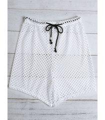 incerun men sexy mesh hollow drawstring casual boxer ropa interior