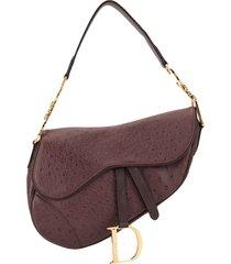 christian dior pre-owned saddle shoulder bag - purple
