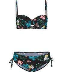 bikini sostenibile a balconcino con ferretto (set 2 pezzi) (nero) - bpc selection