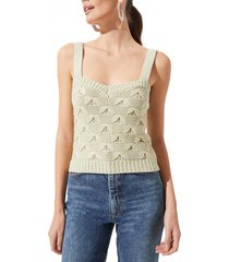 women's astr the label sweater tank, size x-small - green