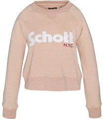 sweater schott sweatshirt sw ginger 1 w blush