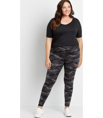 maurices plus size womens high rise camo full length luxe leggings green
