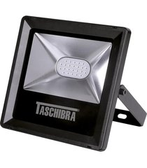 refletor led taschibra tr10, preto, 8 watts, luz verde