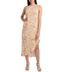 bcbgeneration animal-print halter-neck midi dress