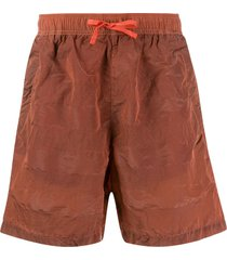 stone island shadow project elasticated waist shorts - orange