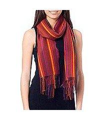 alpaca blend scarf, 'feminine comfort' (peru)