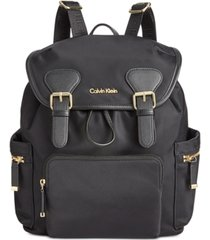 calvin klein double buckle backpack