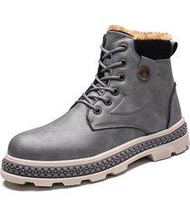 botas de cuero botines de cuero para moto de hombre zapatos oxfords