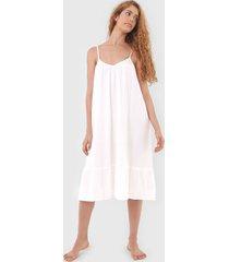 camisola gap midi recorte off-white - off white - feminino - algodã£o - dafiti