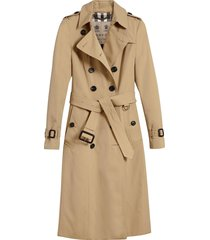 burberry the chelsea - extra-long trench coat - neutrals