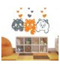 adesivo de parede 3 gatinhos - eg 140x100cm