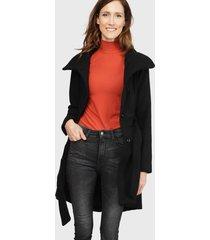 abrigo wados negro - calce regular