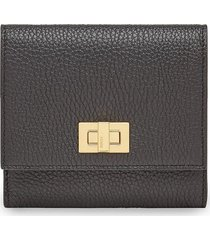 fendi textured peekaboo wallet - black